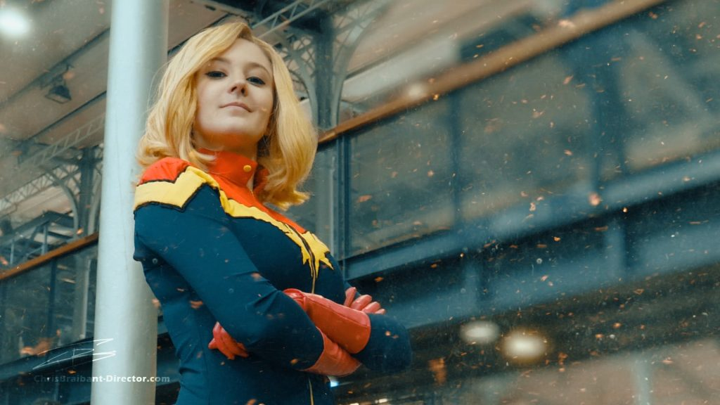 Captain Marvel Cosplay. Comic Con Paris 2019